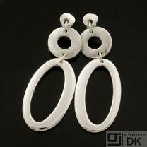 Danish Silver Earrings - Lund Copenhagen