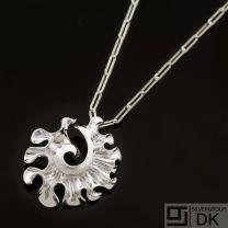 Danish Silver Pendant - Lund Copenhagen