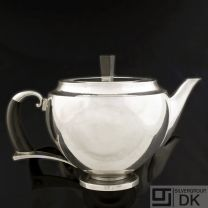 Georg Jensen Silver Teapot w/ Ebony - #506 - VINTAGE