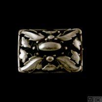 Danish Art Nouveau Silver Brooch - VINTAGE