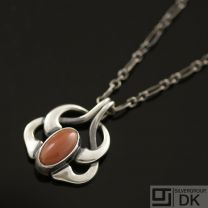 Georg Jensen Pendant Of The Year 2006 w/ Coral - HERITAGE COLLECTION