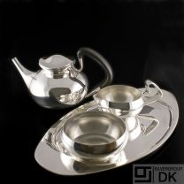 Georg Jensen Silver Tea Set w/ Tray -  #1051 and #1017 - VINTAGE