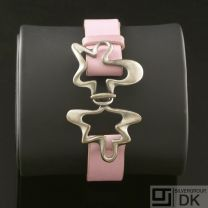 Georg Jensen Silver Bracelet - Splash #429B Pink