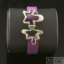 Georg Jensen Silver Bracelet - Splash #429B Purple