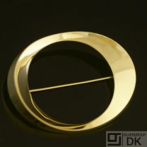 Danish Gold Brooch - Hans Hansen #254 - VINTAGE