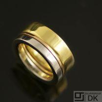 Danish Silver Ring, 3 Tones - Lund Copenhagen