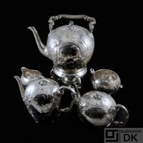 A. Michelsen - Denmark. Antique Silver Samovar - Coffee & Tea Set - 1898.