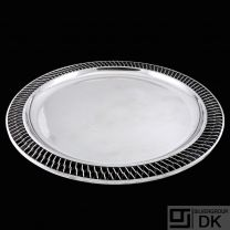 A.F. Rasmussen - Denmark. Large Round Sterling Silver Wire Dish #510A.