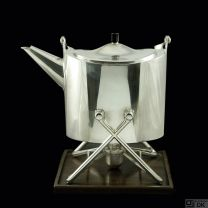 Karl Gustav Hansen. Sterling Silver Tea Pot on Stand #392 - Anno 1958