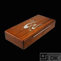 Andersen & Søhoel. Rio Rosewood Box with Inlaid Sterling Silver - 1960s