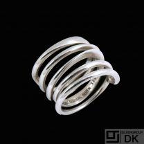 Bent Knudsen - Denmark. Sterling Silver Spiral Ring #176. 1960s.