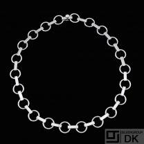 Bent Knudsen - Denmark. Sterling Silver Necklace #60. 1960s