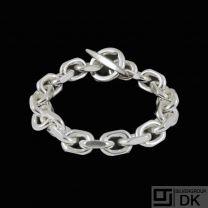 Boy Johansen. Sterling Silver Anchor Chain Bracelet. 74 g.