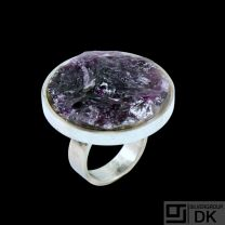 Boy Johansen. Sterling Silver Ring with Amethyst - 1960s.