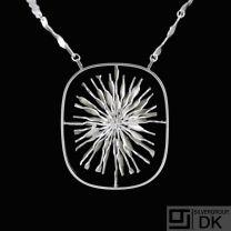 Boy Johansen. Large Sterling Silver Pendant Necklace. 1960s