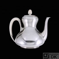 Svend Weihrauch - F. Hingelberg. Silver Coffee Pot with Ivory.