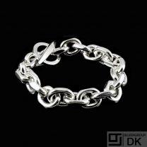 DanishAnchor Chain Sterling Silver Bracelet. 111 g.