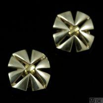 Georg Jensen Sterling Silver Ear Clips with 18k Gold #311 - Regitze Overgaard