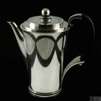 Georg Jensen Sterling Silver Coffee Pot - Pyramid / Pyramide #600A. 1933-44 Hallmarks