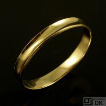 Hans Hansen 14k Vintage Gold Bangle #212