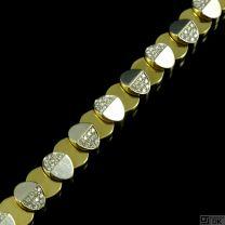Kria. 18k Gold & White Gold Bracelet with Pavé Diamonds.