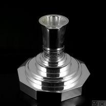 Georg Jensen Large Sterling Silver Candlestick #691A - Harald Nielsen. 1933-1944 GJ Hallmarks.