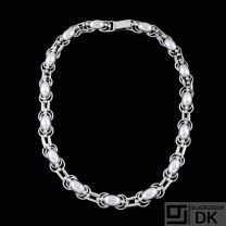 Erikson & Kromann - Copenhagen. Art decoSilver Necklace#11.