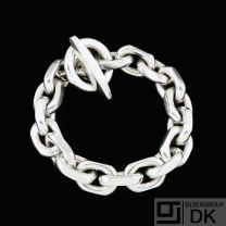 Frantz Hingelberg. Heavy Anchor Chain Sterling Silver Bracelet.