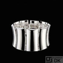 Kurt Nielsen. Sterling Silver 'Ripple' Bracelet - KNDK7