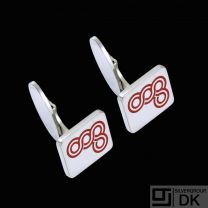 Georg Jensen. Sterling Silver Cufflinks with Enamel - Koppel -  Anniversary of Copenhagen.