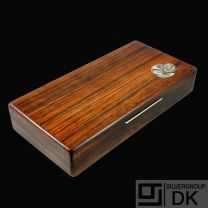 Robert Dalgas Lassen. Rio Rosewood Box with Inlaid Sterling Silver - 1960s