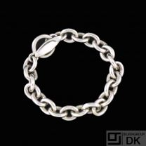 Georg Jensen. Heavy Sterling Silver Anchor Bracelet #140A - Nanna Ditzel.