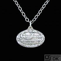 Georg Jensen. Sterling Silver Anniversary Pendant. 1904-2004.
