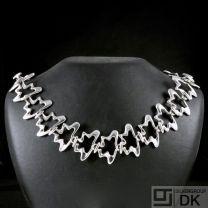 Georg Jensen. Sterling Silver Necklace#429B - SPLASH - Koppel