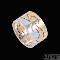 Georg Jensen. Fusion 3-piece Ring - 18k. Yellow, Rose & White Gold. 61mm