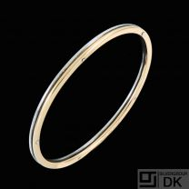 Georg Jensen. 18k Gold & Sterling Silver Bangle #A1078 - Andreas Mikkelsen