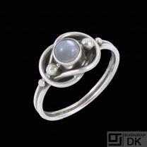 Georg Jensen. Sterling Silver Ring with Moostone #5.