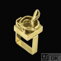 Boy Johansen. Sculptural 14k Gold Ring - 1960s.