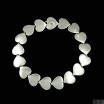 Karl Gustav Hansen for Hans Hansen. Sterling Silver Heart Bracelet #236