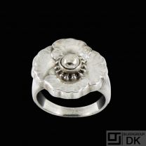 Georg Jensen Sterling Silver Ring #73 - 1933-44 Hallmarks.