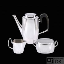 Hans Hansen. Sterling Silver CoffeeSet #543- Karl Gustav Hansen.
