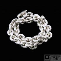 Hans Hansen. Double Anchor Chain Sterling Silver Bracelet.