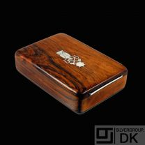 Frantz Hingelberg. Rio Rosewood Box with Inlaid Sterling Silver - 1960s