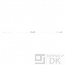 Georg Jensen Silver Bracelet with Pavé diamonds - Infinity #452B