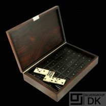 Hans Hansen. Rio Rosewood & Sterling Silver boxed Domino Set - 1960s