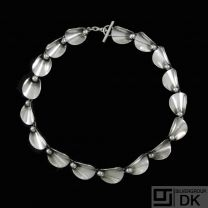N.E. From. Sterling Silver Necklace - Denmark 1960s