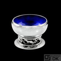 Georg Jensen. Sterling Silver Salt Cellar with Enamel #2A - Blossom / Magnolia.