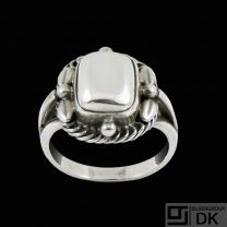 Georg Jensen. Sterling Silver Ring with Silverstone #1D