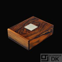 Hans Hansen. Rio Rosewood Box with Inlaid Sterling Silver - Denmark - 1960s