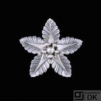 Hanne Kaufmann - Copenhagen. Sterling Silver 'Flower' Brooch. 1960s